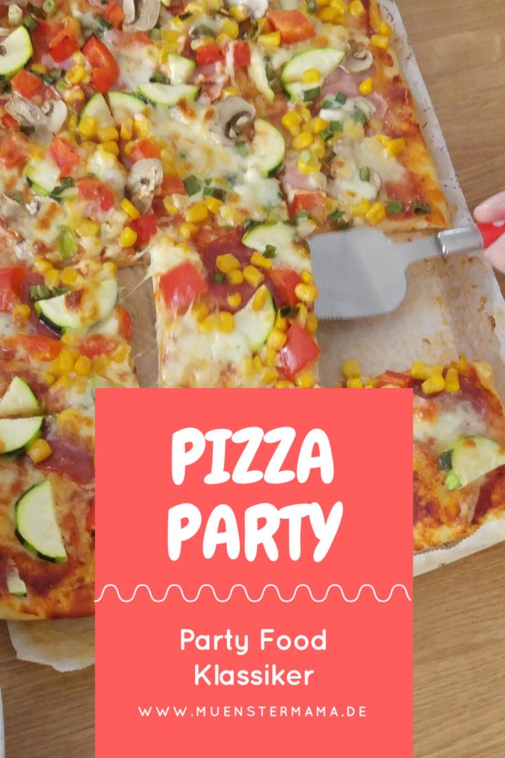 Pizza Party Rezept Hefeteig Kindergeburtstag Familienessen