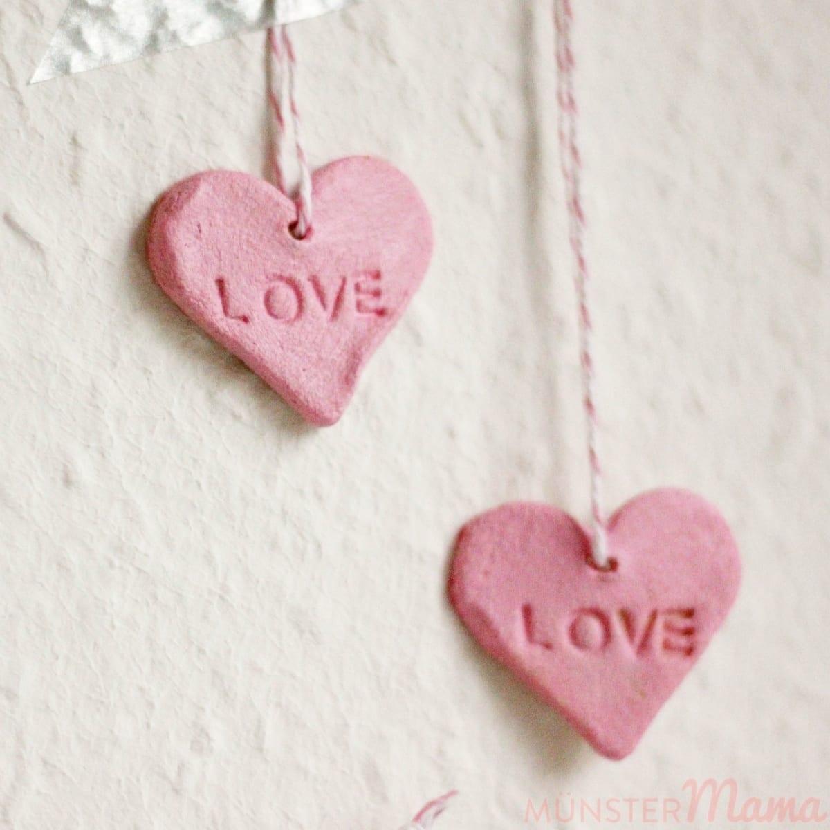 Stärketeig Anhänger Herzchen Valentinstag