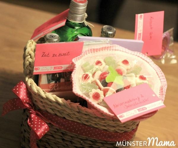 DIY Geschenkkorb zur Hochzeit
