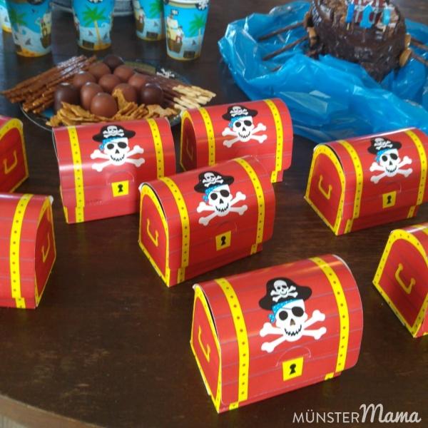 Schatzkiste für Piratengeburtstag