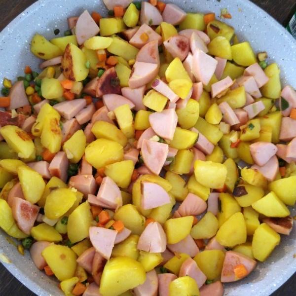 Kartoffel Wurst Pfanne
