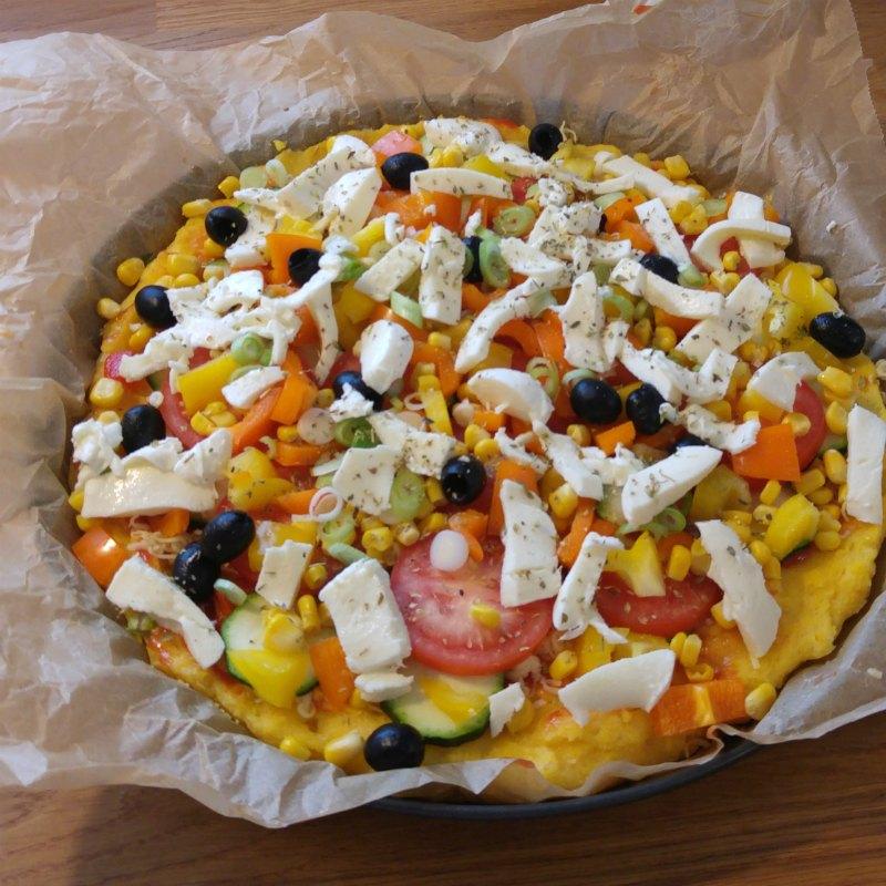 Polenta Pizza Gemüse vegetarisch