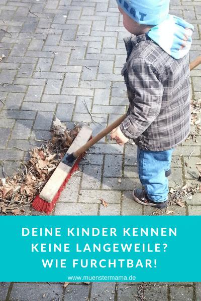 Langeweile gelangweilte Kinder Lösung Beschäftigung Münster