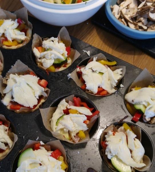 Pizza Bites Häppchen Rezept Kinder kochen Münstermama Münster