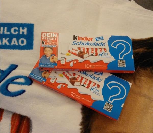 kinder Schokolade-Aktionspackung-deingesichtaufkinderschokolade-münster