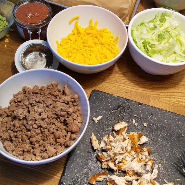 Tacos-Fleisch-Füllung-Shredded-Chicken-Hähnchen-Pulled