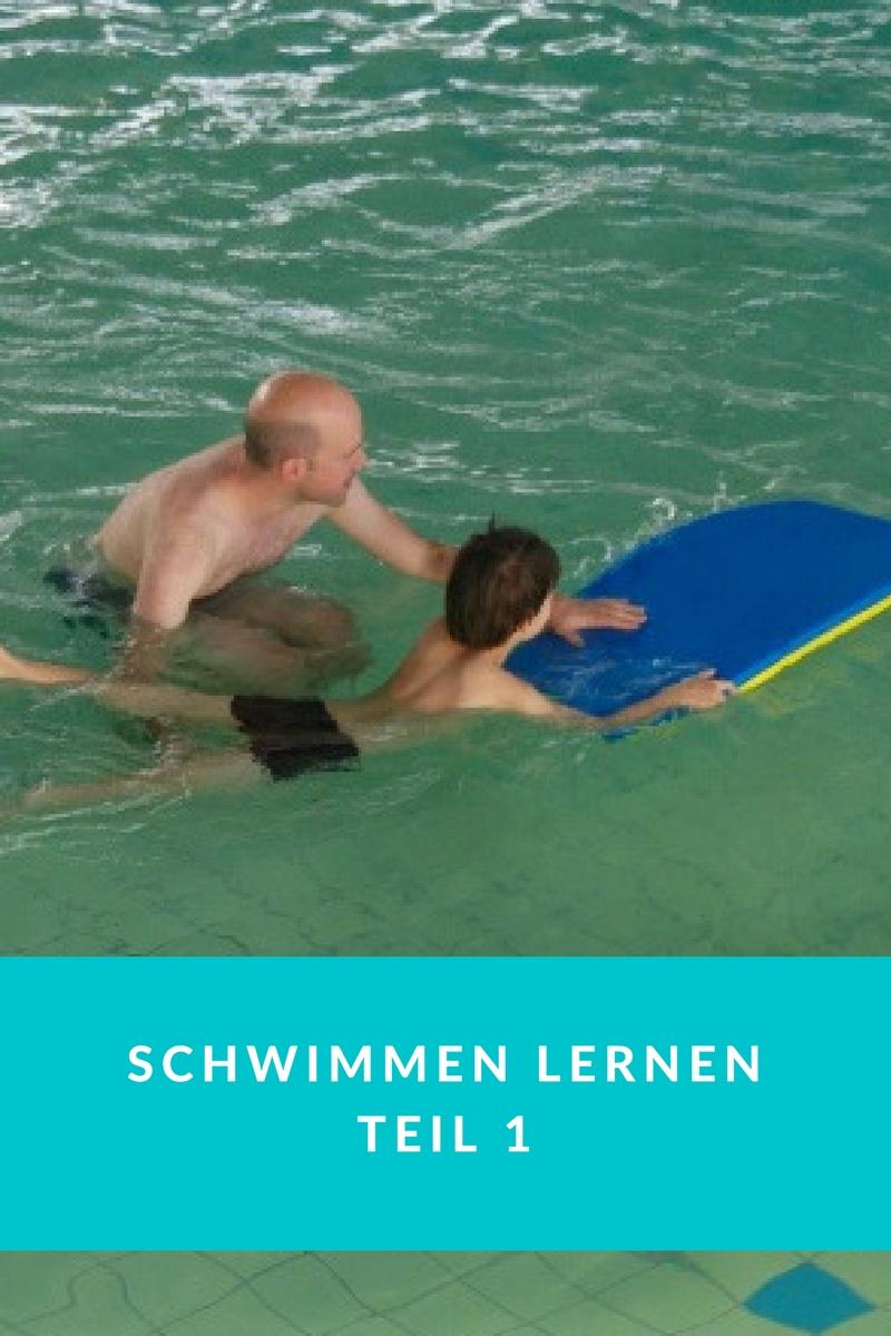 Schwimmen Lernen ohne Kurs Familie Vater Sohn Papa Eltern Münster Schwimmkurs