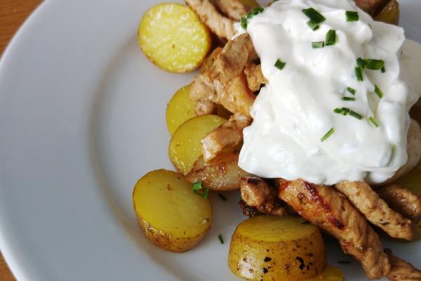 Gyros-Tsatsiki-Oregano-Kartoffeln-Mittagessen-Familienessen-Rezept-Münster-Abendessen-Griechisches