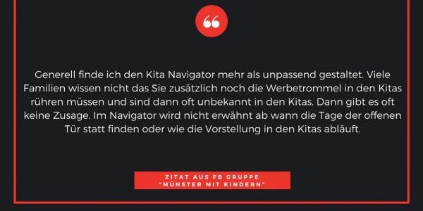 Zitat 3 Kita-Navigator Münster Eltern Kita Notstand Kindergarten Grundschule Betreuungsplatz Jugendamt Stadt Vergabeverfahren Protest