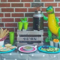 Dinosaurer Kindergeburtsag Party Buffet Sweetstable Münstermama