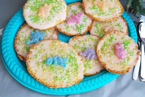 Dinosaurier Amerikaner Kuchen Gebäck Rezept Partyfood Kindergeburtstag