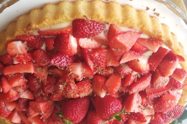 Erdbeer Kuchen Strawberry Cake Cheatcake Schummel Backen Cheatcake