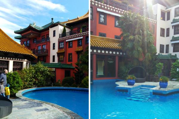 Freizeitpark-Poolbereich-Hotel-LingBao-Familie-Urlaub-Phantasialand-münster-collage