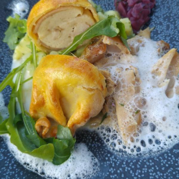 Kaninchen-Rucola-Zwiebel-Minze-Münster-Restaurant-Rotkehlchen-Tipp-Münstermama