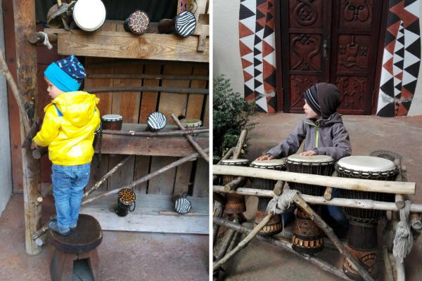 Trommeln-Show-Afrika-Kinder-Kleinkind-Phantasialand