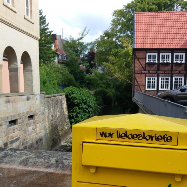Münster Stadtbild Liebesbriefe