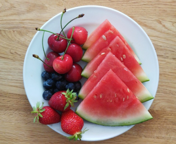 Obst gesunde Snacks Sommer Fruits