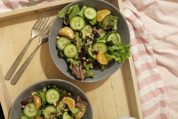 Wintersalat Mandarinen Feldsalat Salat Münstermama Rezept