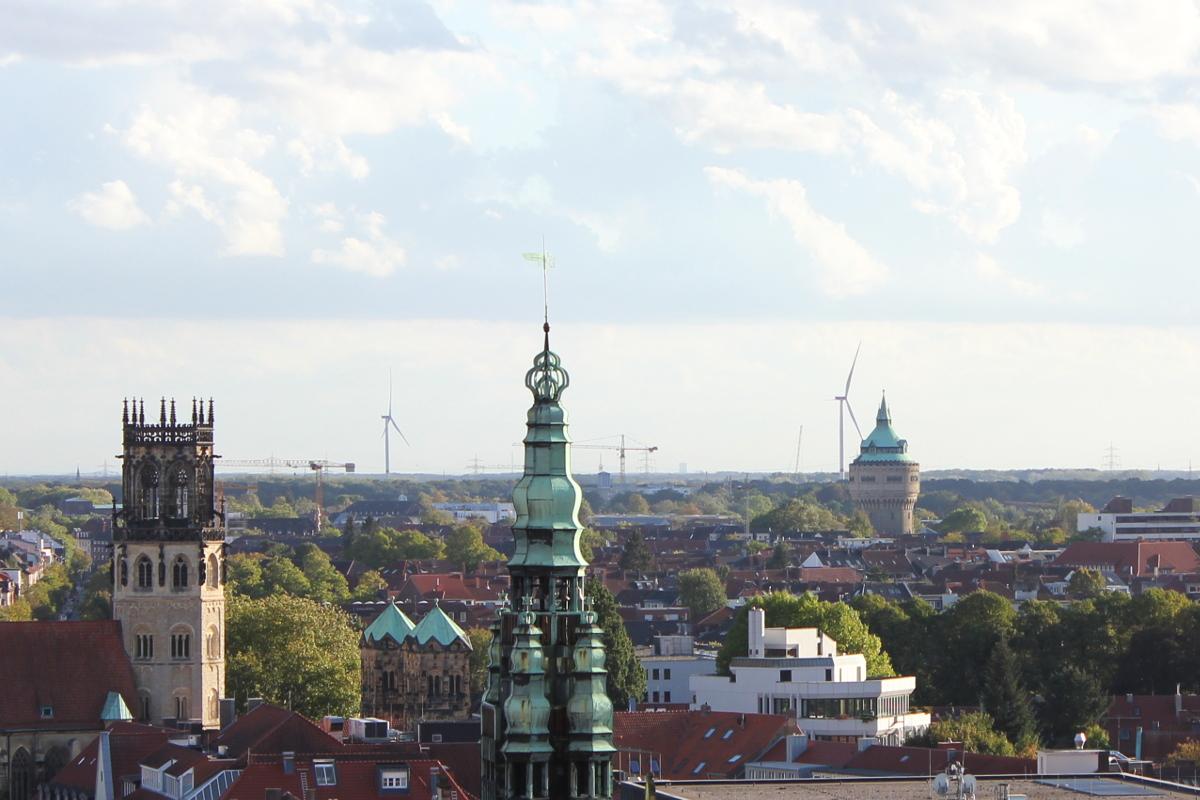 Münster-Wasserturm-Josefkirche-Ludgeristraße-Münsterland-Münstermama
