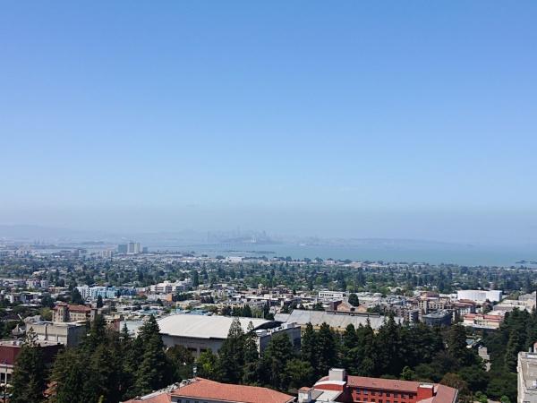 Berkeley Campanile Aussicht Kalifornien Urlaub