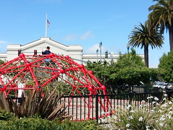 Ferry Building Spielplatz San Francisco Familie Urlaub Reise