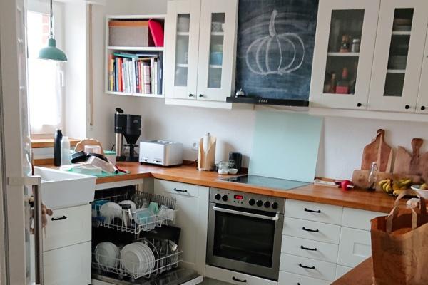 Küche-Dankbarkeit-Familienleben-Vorher-münstermama