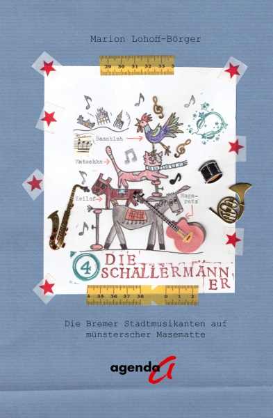 Cover Die Vier Schallermänner ein Kinderbuch auf Masematte