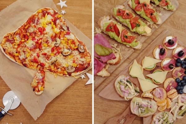Tannenbaum Pizza und Schnittchen im Advent