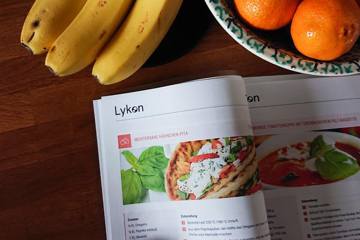 Lykon myDNA Bericht enthält auch Rezepte und Lebensmitteltabellen mit Kennzeichnungen welche für meinen Gentyp geeignet sind
