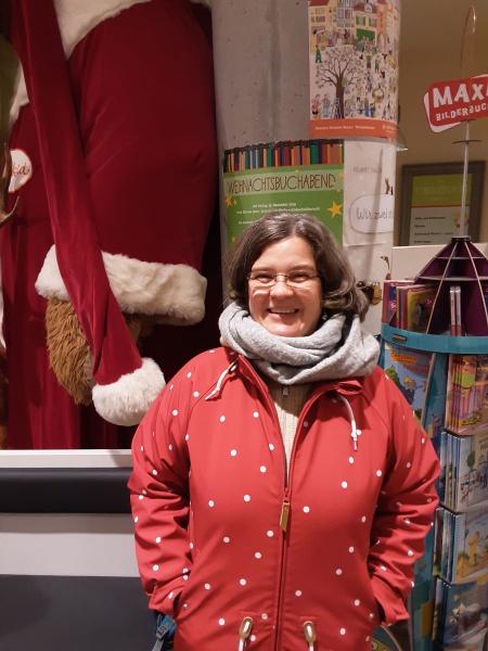 Marion bei MuKK Lesung für Die Vier Schallermänner in Münster
