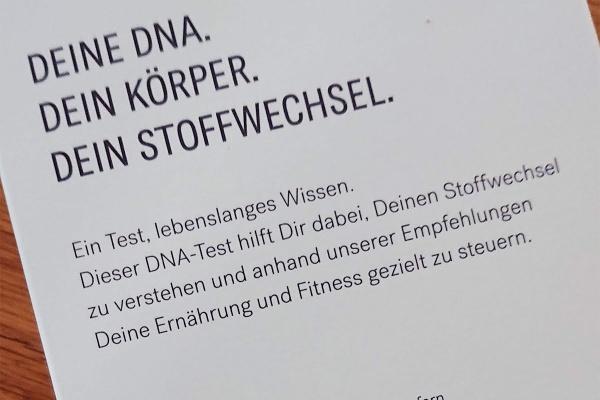 DNA Test von Lykon myDNA Slim hilft den Stoffwechsel zu verstehen und gibt Empfehlungen zur Ernährung und Fitness