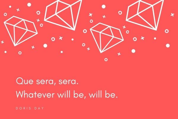 Grafik zum Lied Que Sera, sera von Doris Day