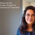 25 Wege aus den Sorgen Aengsten und depressiven Gedanken in Schrift und Leila Prousch vor grauer Wand