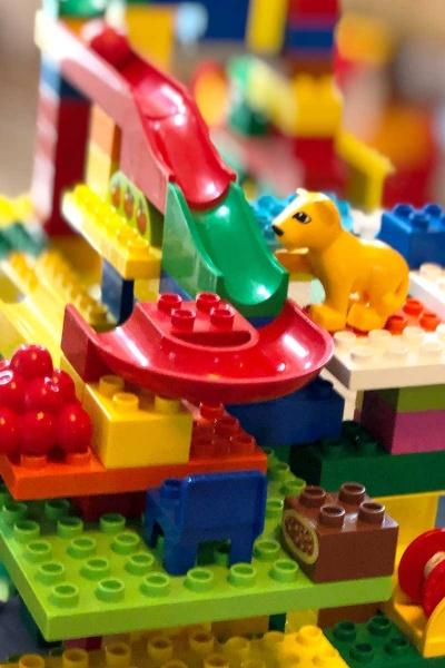 Hubelino Kugelbahn kombiniert mit Lego Duplo