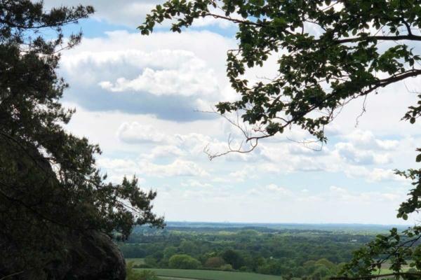 schöne aussicht auf das münsterland von den Dörenther Klippen in Tecklenburg