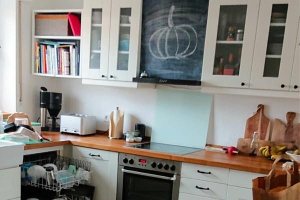 Unaufgeräumte Küche